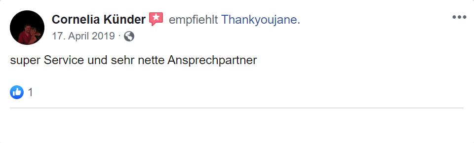 erster Erfahrungs Thankyoujane